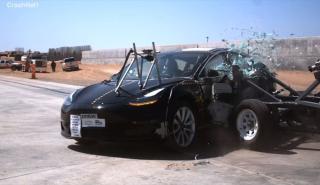 test choque NHTSA Tesla Model 3