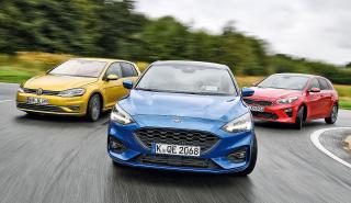 Ford Focus vs Kia Ceed y Volkswagen Golf