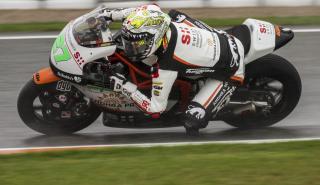 Íker Lecuona en los Libres Moto2 Valencia 2018