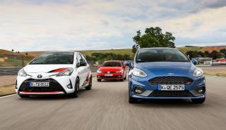 Prueba: Toyota Yaris GRMN vs Ford Fiesta ST vs y VW Polo GTI