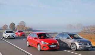Ford Fiesta vs Hyundai i20, VW Polo y Toyota Yaris