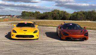 Dodge Viper GTS biturbo vs McLaren 720S