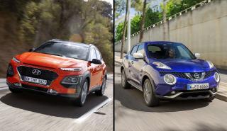 Nissan Juke 2019 vs Hyundai Kona