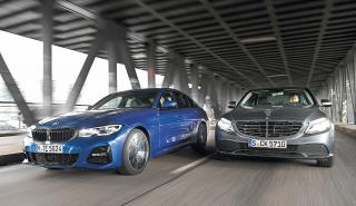 BMW 330i vs Mercedes C 300.