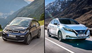 Nissan Leaf 2019 vs BMW i3