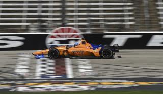 Fernando Alonso en su test Indycar en Texas