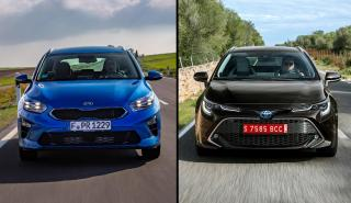 Kia Ceed Tourer vs Toyota Corolla Touring Sports
