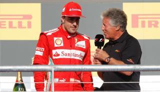 Mario Andretti y Fernando Alonso