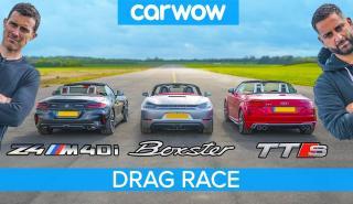 BMW Z4 contra Audi TTS y Porsche Boxster GTS