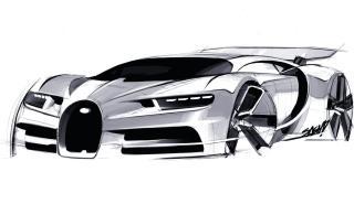 Boceto Bugatti Chiron