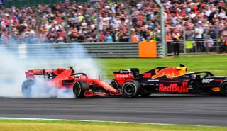 Accidente de Verstappen y Vettel