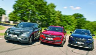 Comparativa Honda HR-V, Skoda Karoq y Opel Grandland X