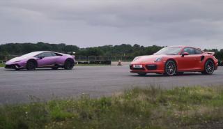 Porsche 911 Turbo S vs Lamborghini Huracán Performante