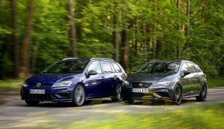 Comparativa del Seat León ST Cupra R vs Volkswagen Golf R Variant