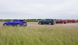 Tesla Model 3 vs Jaguar i-Pace vs Audi e-tron vs Toyota Supra