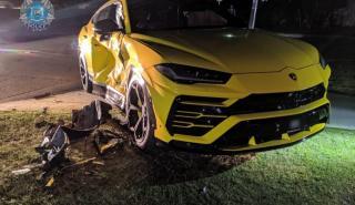 Un australiano de 14 años se choca contra un Lamborghini Urus en un Subaru robado