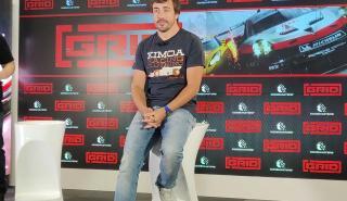 Fernando Alonso y AUTO BILD, en la presentación del juego Grid