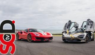 Ferrari 488 Pista y McLaren 720S