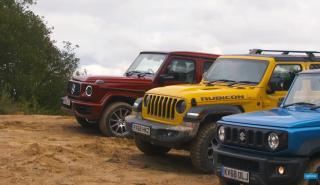 Suzuki Jimny, Jeep Wrangler y Mercedes AMG G63 off road