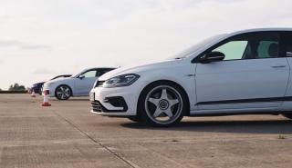 Volkswagen Golf R vs Audi RS 3 vs Golf R modificado