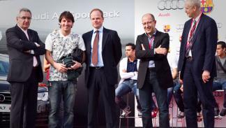 Fotos: Los jugadores del FC Barcelona disfrutan de su nuevo Audi