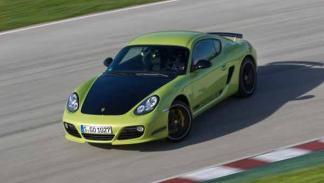 Porsche Cayman R autoblocante derrapada verde