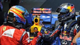 Fernando Alonso y Sebastian Vettel