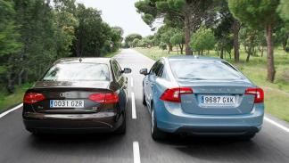 Audi A4 2.0 TDI contra Volvo S60 D3 trasera