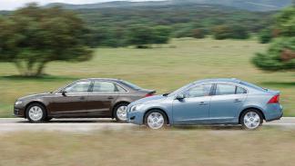 Audi A4 2.0 TDI contra Volvo S60 D3 lateral