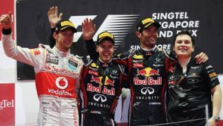 J. Button/S. Vettel/M.Webber