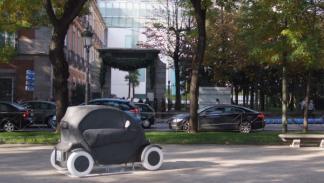 El Renault Twizy Parade oscuro