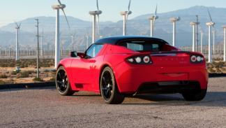 Tesla Roadster trasera
