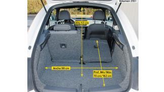 VW Beetle escarabajo 2.0 TSI 200 CV DSG interior maletero