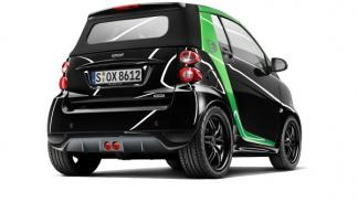 Trasera del Smart Brabus electric drive