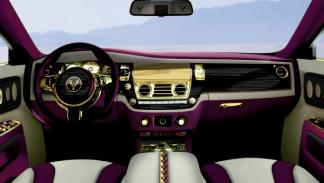 Rolls Royce Ghost Purple interior