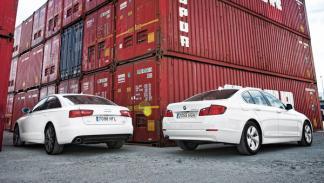 Audi A6 contra BMW Serie 5 trasera