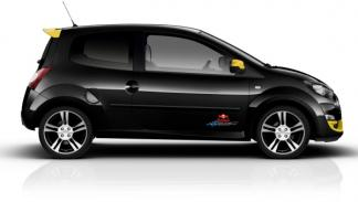Lateral del Renault Twingo RS Red Bull Racing RB7