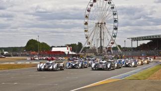 El circuito de La Sarthe, con su noria en 24 Horas de Le Mans 2012