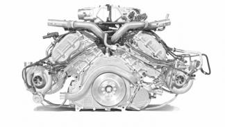 McLaren P1 motor gasolina