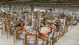La planta de montaje del BMW i3 está altamente robotizada