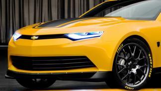 Transformers 4, Camaro, Bumblebee, fotos oficiales, frontal