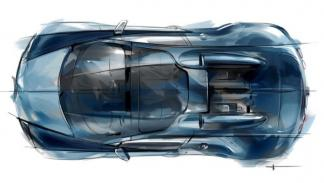 Bugatti Veyron Jean-Pierre Wimille boceto