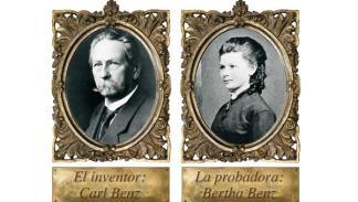 retrato de Carl Benz y Bertha Benz