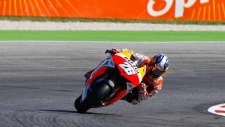 Dani Pedrosa, en el circuito de Misano.