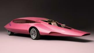El coche de la Pantera Rosa frontal