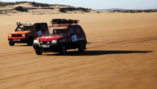 Panda Raid 2014 atravesando desierto