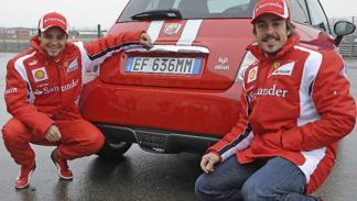 Fernando Alonso Felipe Massa Abarth 695 Tributo Ferrari