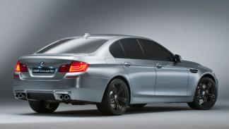 BMW M5 concept trasera escapes deflector
