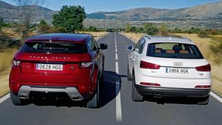 Audi Q3 2.0 TFSI Range Rover Evoque Si4 trasera