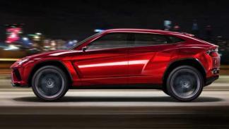 Lateral del Lamborghini Urus